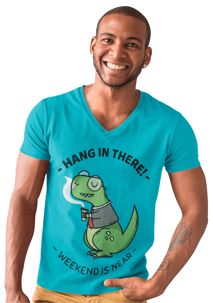 T Shirt Mockup Of A Handsome Smiling Man At A Photo Studio A9817