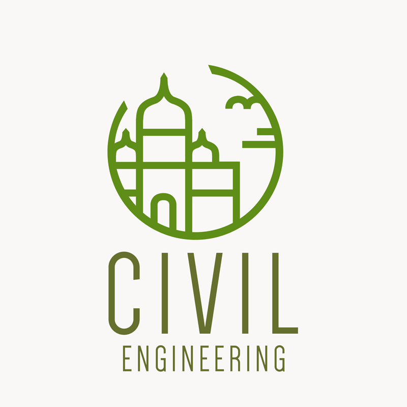 Civil Engineering Logo Outline