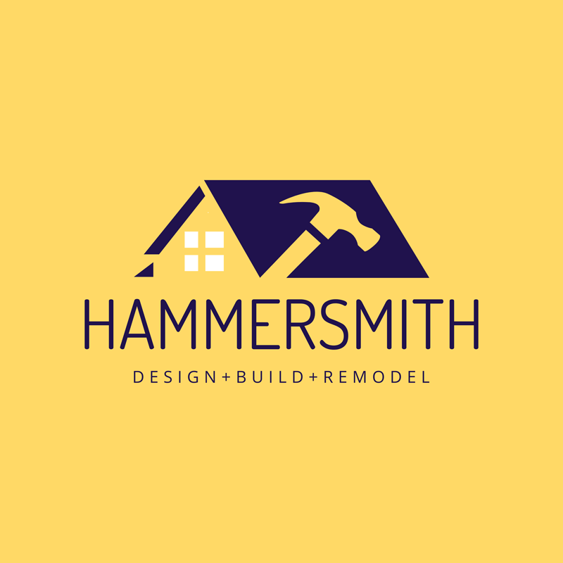 Construction Logo House Hammer Icon