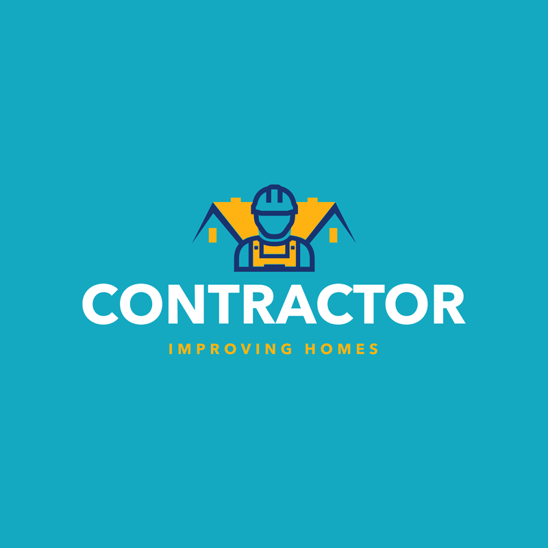 Construction Logo House Worker