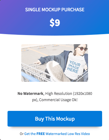 T Shirt Video Mockup Pricing