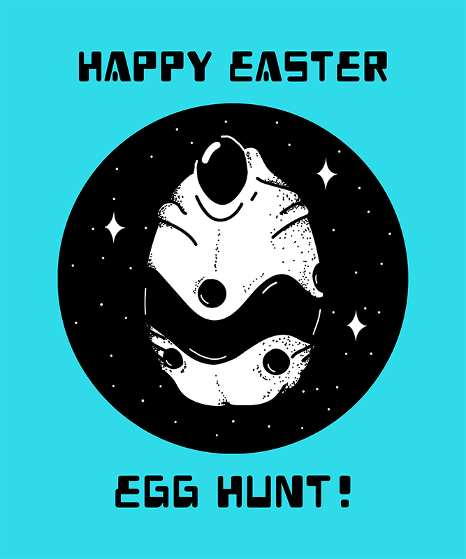 Alien T Shirt Design Template With Funny Easter Quote 445f