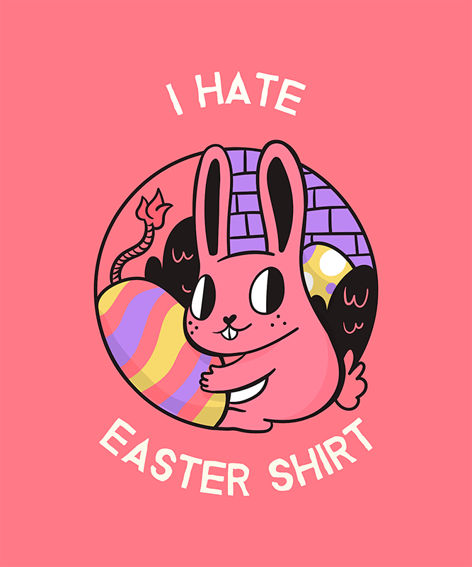 Ironic Easter T Shirt Design