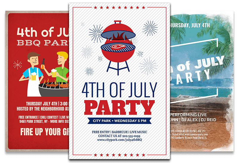 4th Of July Event Flyer Designs