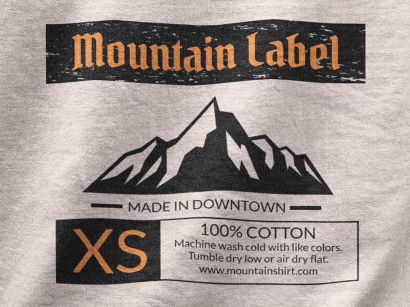 Tshirt Label Designer Mountains