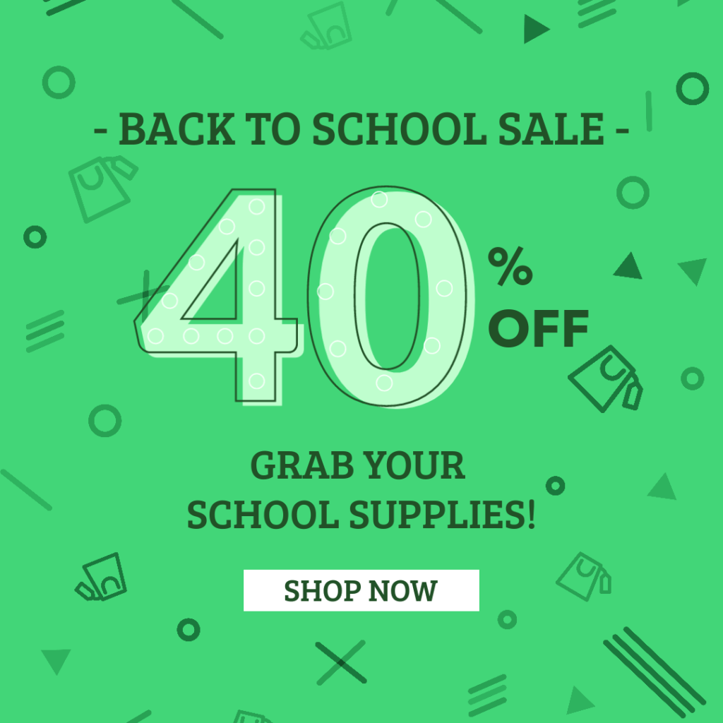Ad Banner Maker For A Back To School Discount 286f