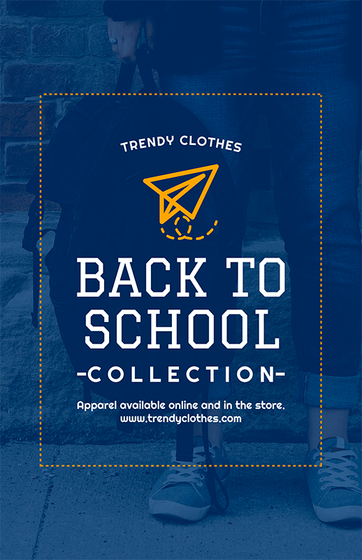 Flyer Template For Back To School Season Apparel 504f