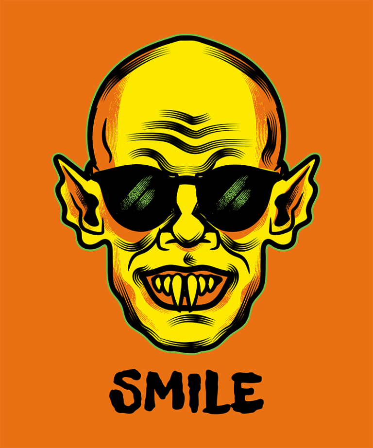 Halloween T Shirt Design Maker With A Funny Nosferatu Graphic 1567a