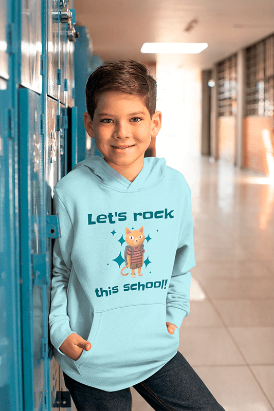 Hoodie Mockup Of A Boy Standing By His Locker At School 24835 (1)