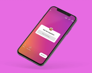 Minimal Iphone X Mockup Featuring A Solid Color Backdrop