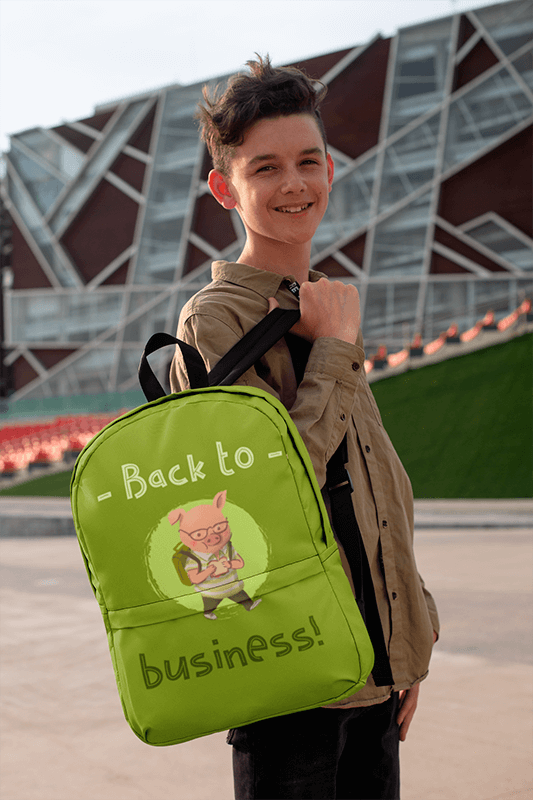 Mockup Of A Teenager Holding A Backpack In Front Of A Modern Building 27702