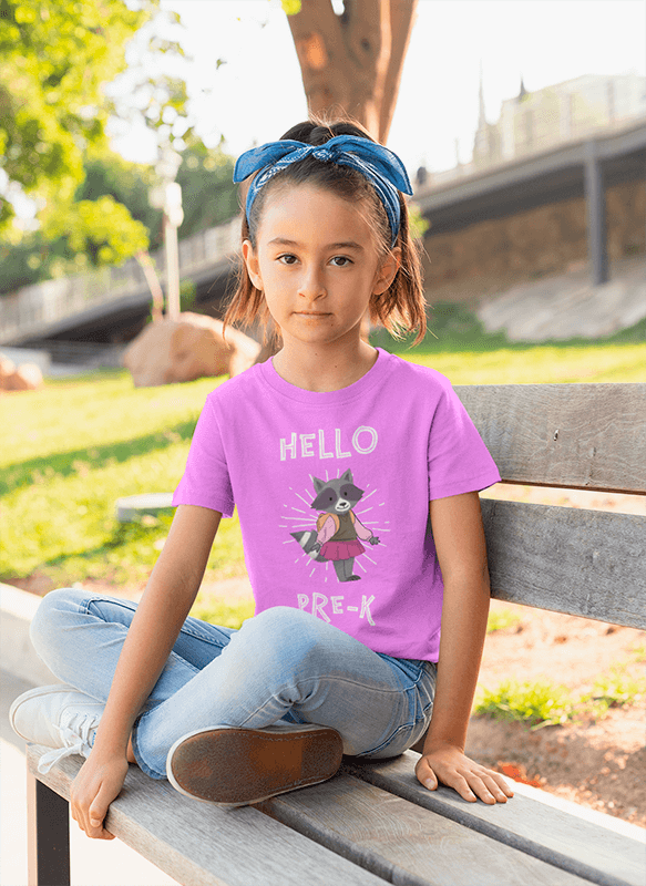 T Shirt Mockup Of A Girl Sitting On A Bench At The Park 28072