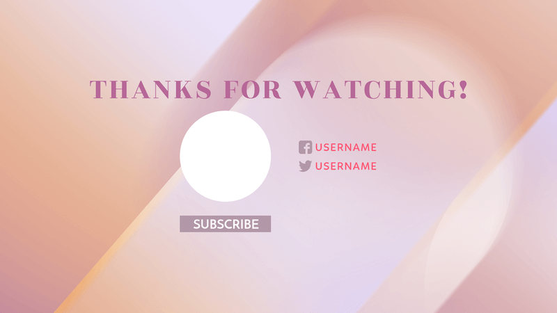 Youtube End Screen Template For A Beauty Channel