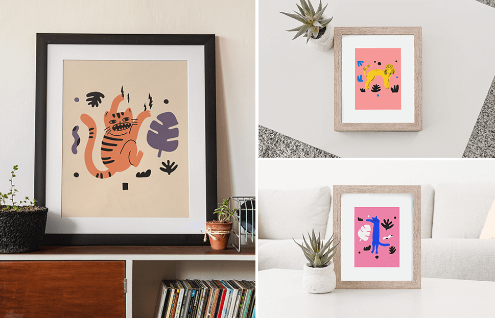Art Print Mockups To Sell Your Art On Etsy