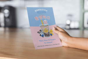 Flyer Maker Boba Tea Cafe