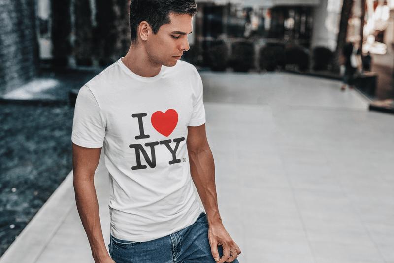 I Love Ny Tshirt Design On Mockup