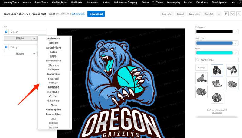 Basketball Logo Maker Edit Text Fields