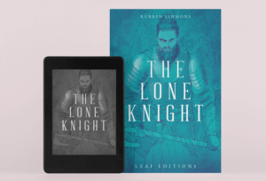 Mockup Of A Kindle Paperwhite And A Physical Book Cover Against A Plain Surface