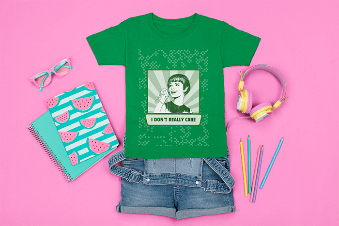 Mockup Of A T Shirt Surrounded By Girly School Supplies