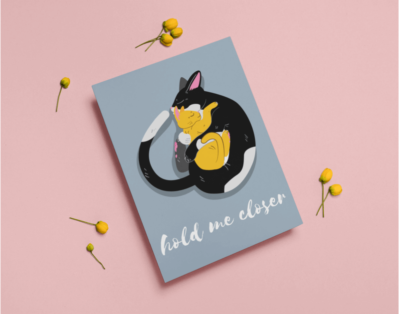 A4 Flyer Mockup With Little Flowers Around It