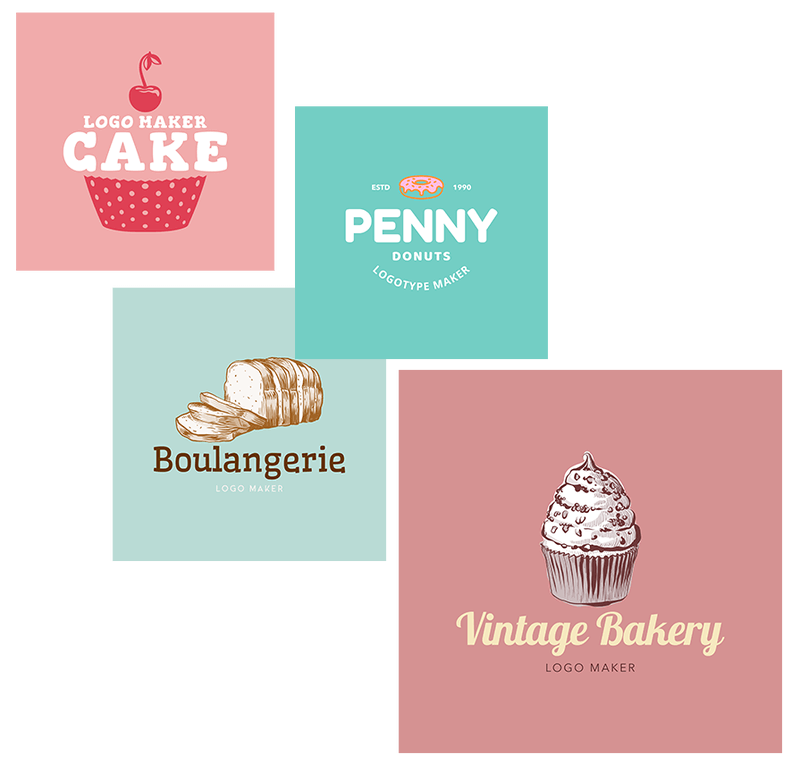 Bakery Logo Templates With Bold Colors