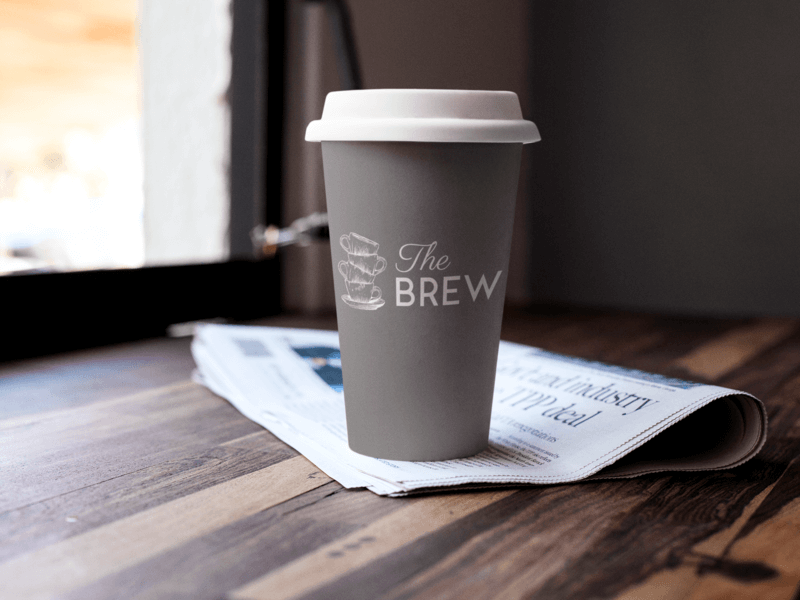 Label Mockup Featuring A Coffee Cup On A Table