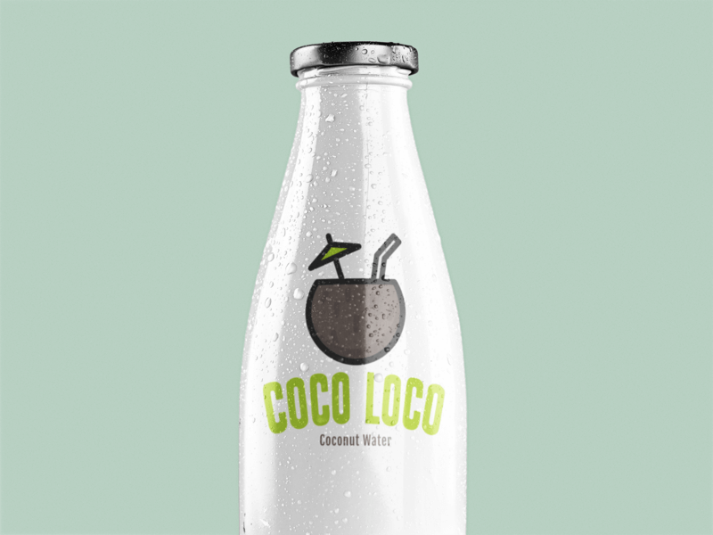 Mockup Of A Milk Bottle Over A Solid Backdrop