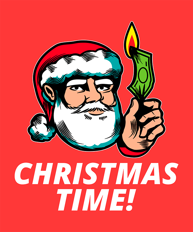 Funny T Shirt Design Maker With Irreverent Christmas Illustrations