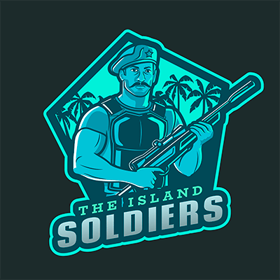 Gaming Logo Maker Featuring A Soldier Character Inspired By Free Fire