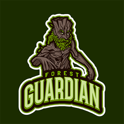 Lol Themed Logo Template Featuring A Tree Warrior Character