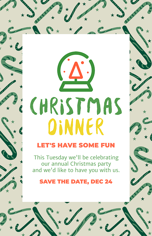 Online Flyer Template For A Christmas Dinner Party 59 El (1)
