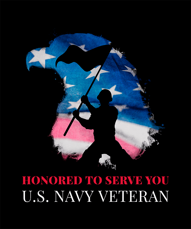 T Shirt Design Template Honoring Veterans Day With A Soldier Waving A Flag