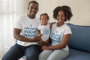 T Shirt Family Mockup