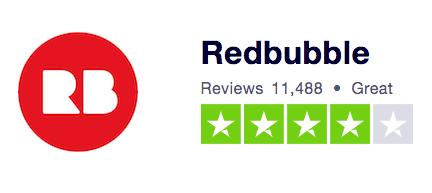 Redbubble Trustpilot Ranking