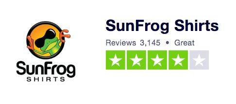Sunfrog Trust Pilot Ranking