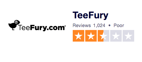 Teefury Trust Pilot Ranking