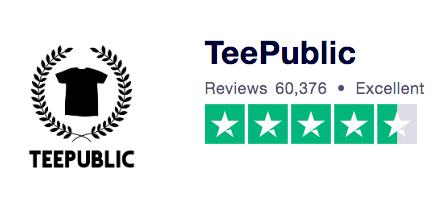 Teepublic Trust Pilot Ranking