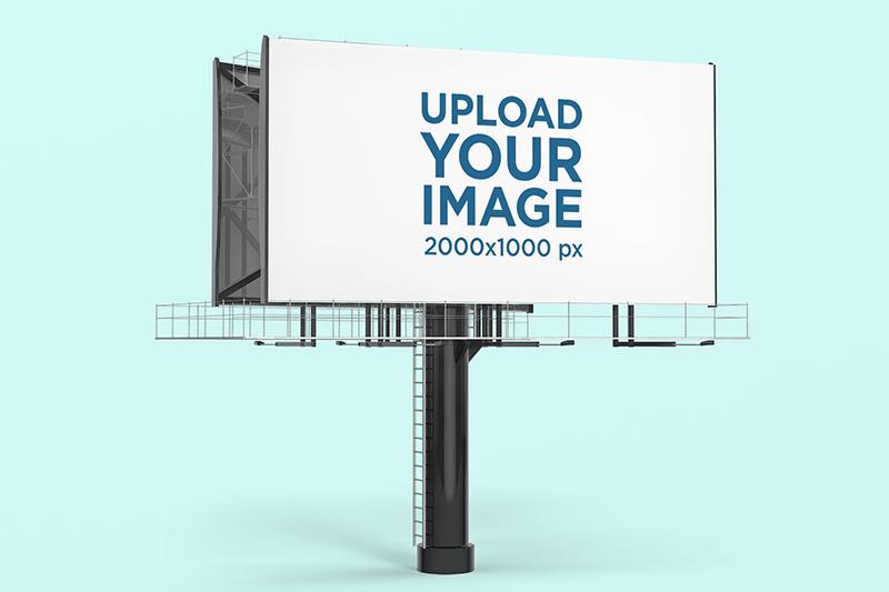 Billboard Mockup Featuring A Customizable Background
