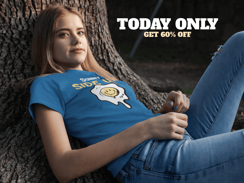 Facebook Ad Pretty Woman Wearing T Shirt