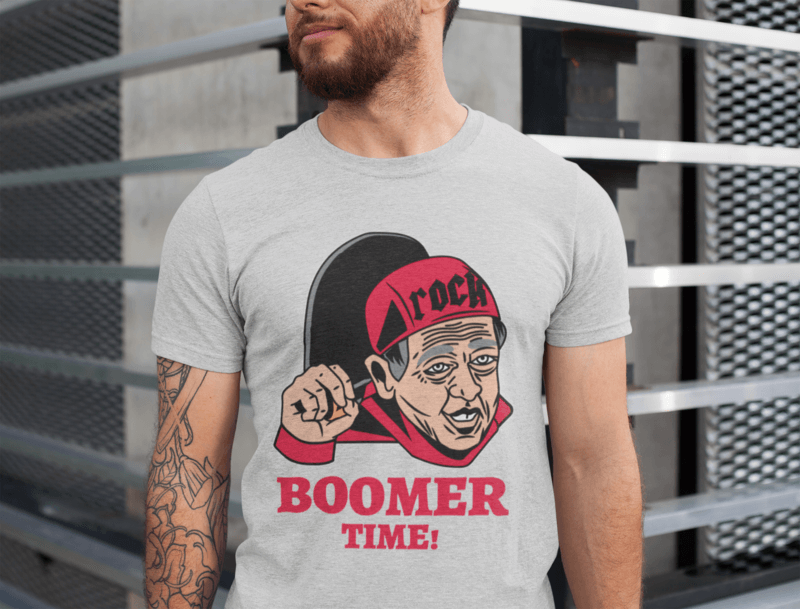 Heathered T Shirt Mockup Featuring A Man With Tattoos