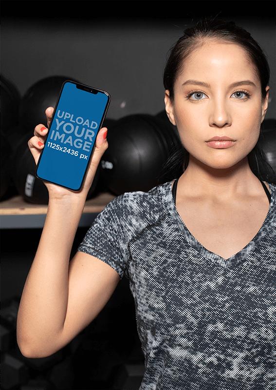 Fitness Model Iphone Mockuc
