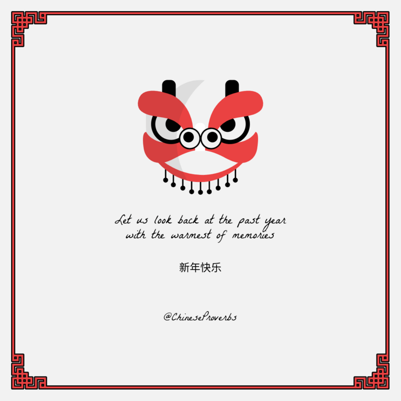 Instagram Post Template Featuring A Chinese New Year Celebration Quote