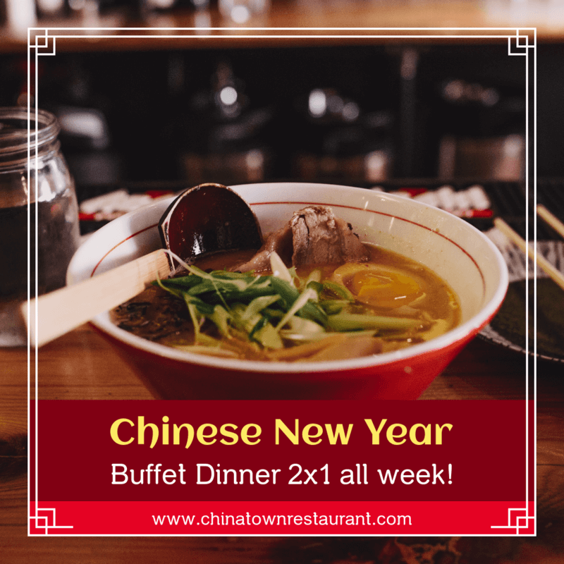 Instagram Post Template For A Chinese New Year S Buffet Promo