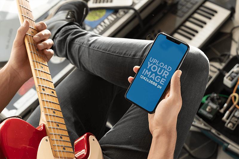 Iphone Guitar Mockup