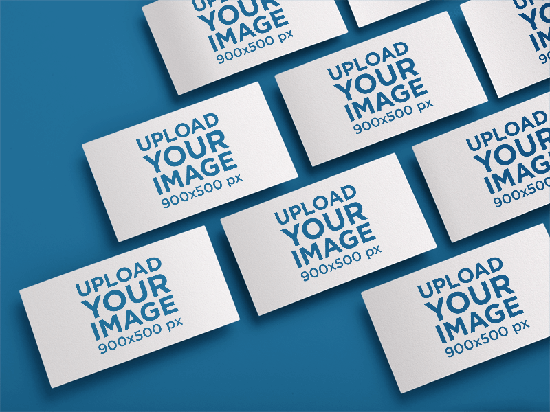 Mockup Featuring A Set Of Business Cards