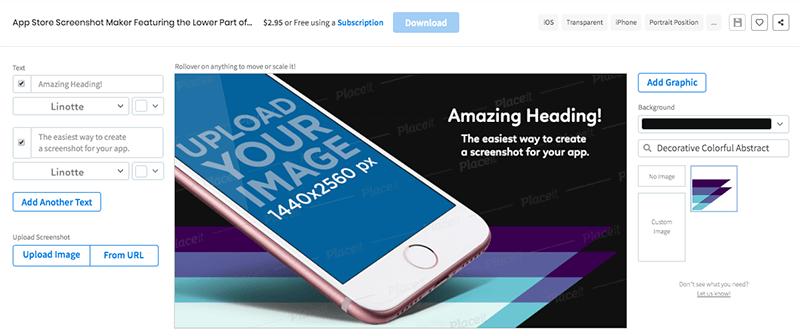 Screenshot Customizing