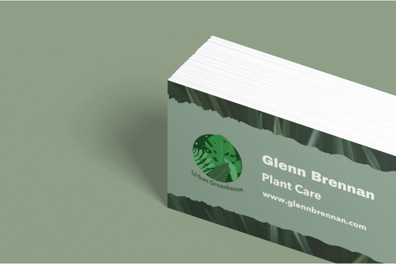Business Card Maker For Plant Care Pros