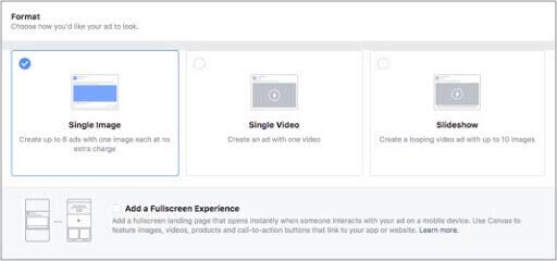 Format Facebook