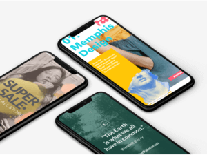 Mockup Of Three Iphones Xs Max Lying On A Customizable Background