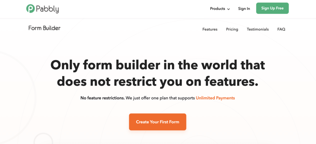 Pabbly Form Builder